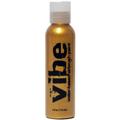 1oz Metallic Gold Vibe Face Paint Water Based Airbrush (Airbrush Body Art Halloween)
