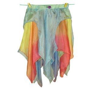 Sarah's Silks Reversible Silk Fairy Skirt (Blue/Rainbow, Small)