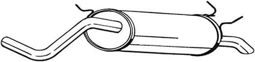 Endschalld/ämpfer 1220-6402 D/ämpfer Abgasanlage