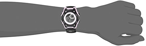 American Design Machine Jr. Kids' ADSG 5003 PNBK Hudson Digital Display Japanese Quartz Black Watch