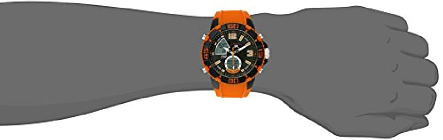 U.S. Polo Assn. Sport Men s US9483 Sport Watch with Orange Silicone Band