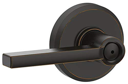 Schlage F40-LAT-GSN Latitude Privacy Door Lever Set with Decorative Greyson Trim, Aged Bronze ()