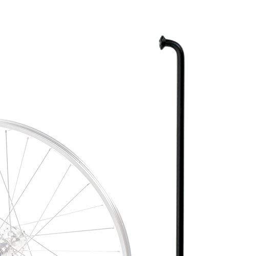 cyclingcolors 1x Black Spoke Wheel Bicycle Lenght 250MM to 300MM Diameter 14G 2MM Steel Straight Standard MTB Road Town Vintage