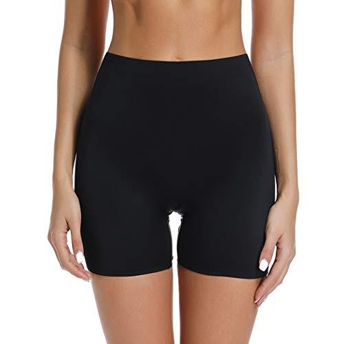 Joyshaper Slip Shorts for Under Dresses High Waisted Anti Chafing Underwear SmoothUnder Skirt Shorts (Black, XL) -