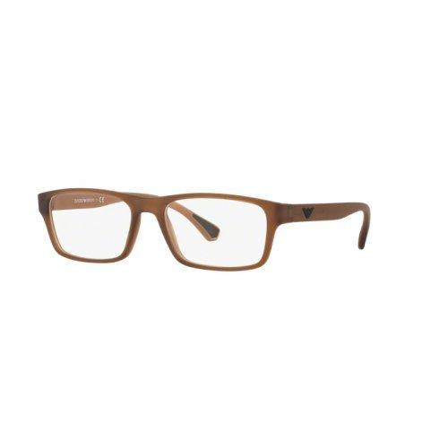 Armani EA3088 Eyeglass Frames 5533-55 - Matte Transparent Brown