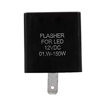 Keenso 12V 2 Pin Electronic Motorcycle Flasher Blinker Turn Signal Relay Motorcycle Speed Adjustable LED Indicator Light