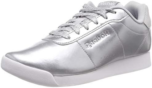 Reebok Damen Royal Charm Fitnessschuhe, Mehrfarbig (Silver Metallic/White/LGH Solid Grey 000), 37 EU