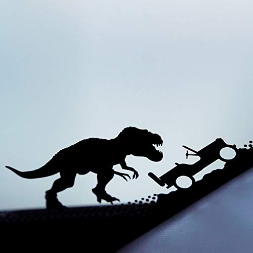 CELYCASY Jurassic T-rex Sticker Tyrannosaurus rex Sticker Dinosaur Sticker Car Laptop Vinyl Decal Sticker Jeep Window Sticker Jeep Decal