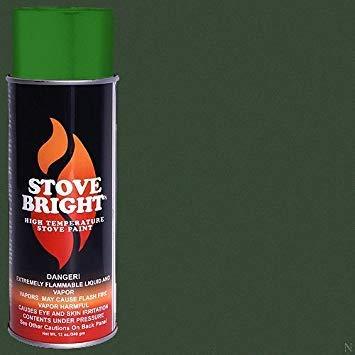 Stove Bright High Temp Paint - Metallic Moss Green