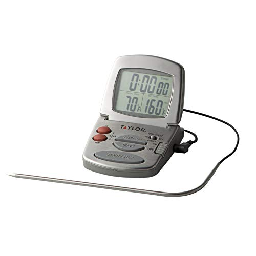 Roast Alert Thermometer - Taylor Precision Products Digital Cooking Thermometer with Probe and Timer