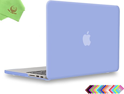 UESWILL Smooth Soft-Touch Matte Hard Case Cover for MacBook Pro (Retina, 15-inch, Mid 2012 to Mid 2015), Model A1398, NO CD-ROM, NO Touch Bar, Serenity Blue