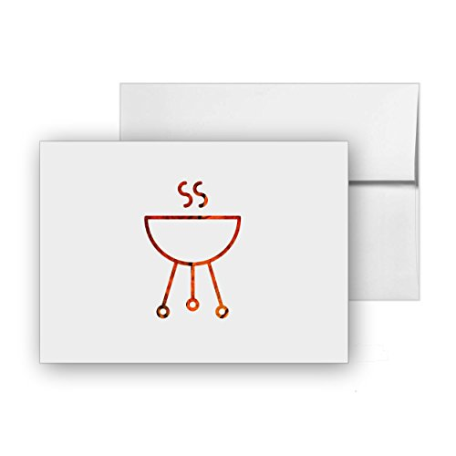 Barbecue Australia Weber Grill, Blank Card Invitation Pack, 15 cards at 4x6, with White Envelopes, Item 475945 (Best Small Bbq Australia)