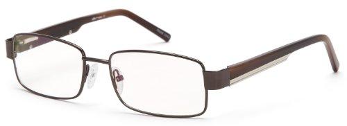 Mens Square Glasses Frames Brown Prescription Eyeglasses Rxable - Glasses 17 56