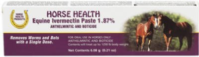 Horse Health Equine Ivermectin Paste - DeWormer by CENTRAL GARDEN AND PET