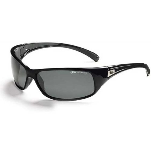 Bolle Sport Recoil Sunglasses (Shiny Black/Polarized (Bolle Wrap Around Sunglasses)
