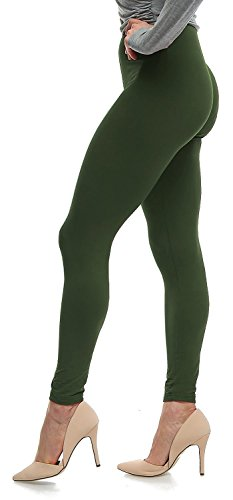 Lush Moda Extra Soft Leggings - Many Colors - Wilderness Green- One Size by LMB