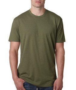 (Next Level Apparel N6210 Mens Premium CVC Crew - Military Green, Large )