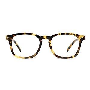 TIJN Wayfarer Shape Design Eyeglasses Whisky Tortoise Frames