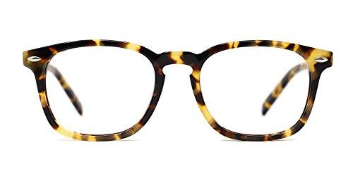 TIJN Wayfarer Shape Design Eyeglasses Whisky Tortoise - Wayfarer Cheap Eyeglasses