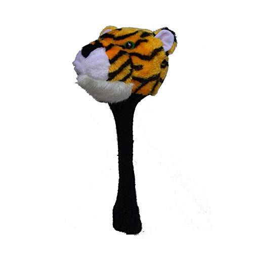Protective Golf Iron Headcovers Cartoon Tiger Styling Golf Putter Headcover Animals Standard Size Decoration Cover Golf Club Cap For No.1 Fairway Wood for Iron Heads ( Color : As shown , Size : Free )