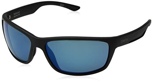 Smith Redmond ChromaPop+ Polarized Sunglasses, Matte Black, Blue Mirror Lens