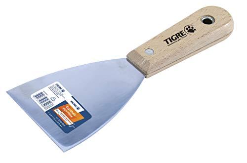 Espátula Aço Inox, Tigre 62153024, Prata, 152,4mm