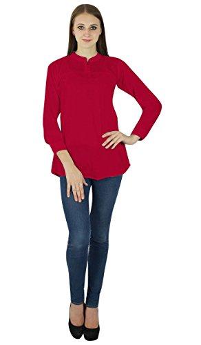 Vestido de tirantes de las mujeres de Boho desgaste de la tapa del algodón de la ropa del verano del vestido de la túnica ocasional Rojo carmesí