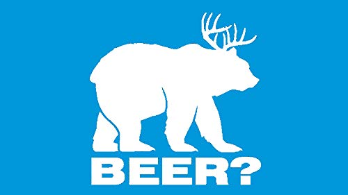 Bluegrass Decals Beer Bear Hunting Deer Rack Decal Sticker
