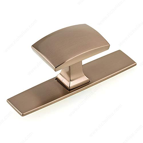 RICHELIEU HARDWARE - Transitional Metal Wardrobe KNOB and Backplate - BP224543CHBRZ (Champagne Bronze)