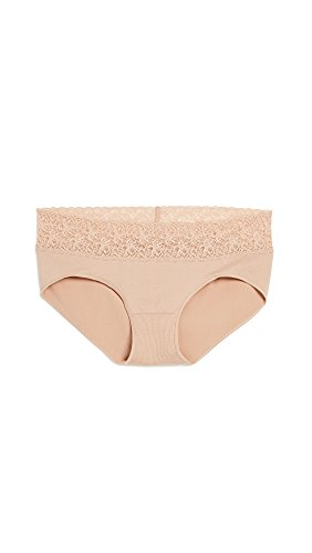Rosie Pope Women's Seamless Hipster with Lace, Nude, Medium