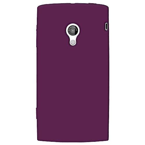 Amzer Silicone Skin Jelly Case for Sony Ericsson Xperia X10 - Purple (Sony Ericsson Phone Case)