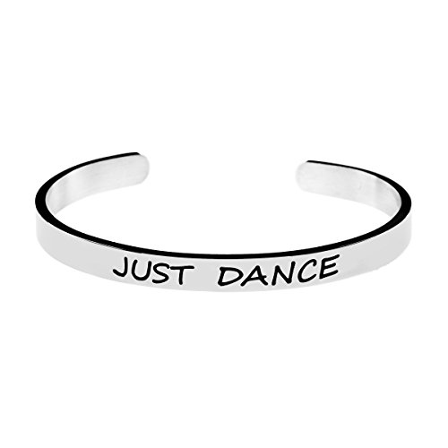 Joycuff Just Dance Jewelry Inspirational Ballet Ball Party Bracelet Engraved Personalized Stainless Steel Graduation Gifts
