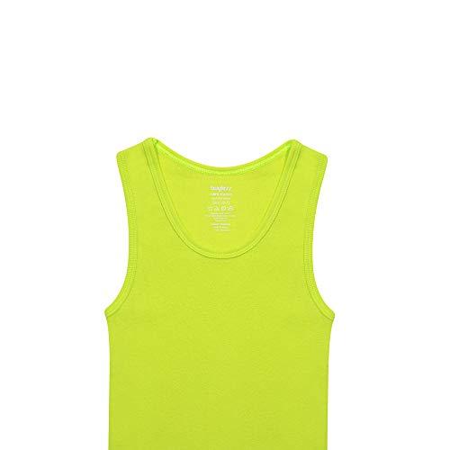 Buyless Fashion Jungen Unterhemden Tank-Top Wei/ß Weiche Baumwolle 6er-Pack