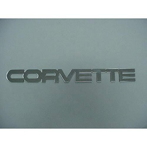 Eckler's Premier Quality Products 25109207 Corvette Rear Bumper Emblem Acrylic Mirror Chrome