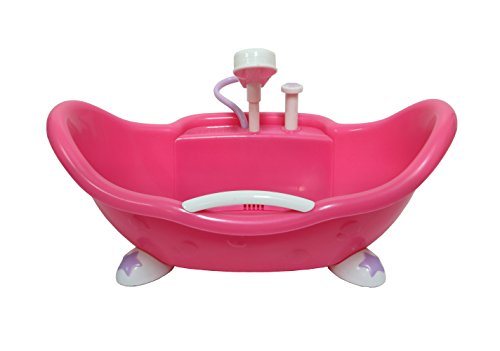 (JC Toys Adorable Lil' Cutesies Bathtub with Shower Fits Most Dolls Up to 10