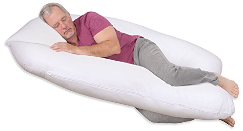 Leachco-ComfortWise-FibroRest-Contoured-Body-Pillow-White