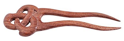 MaryCrafts Wooden Celtic Knot Hair Fork, Hairfork, Hair Pin, Hairpin, Hair Accessory, Hair Toy Handmade