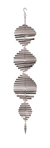 Spinner Helix - In the Breeze Silver Shimmer Helix Spinner with Hang-It S Hook Metal Hanging Décor