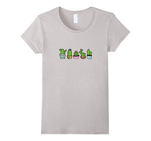 womens-cactus-succulent-house-plants-cacti-desert-garden-t-shirt-xl-silver