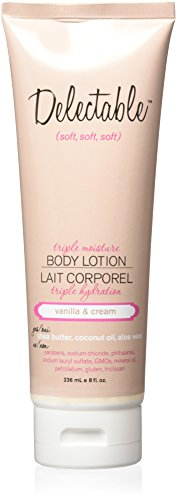 Delectable By Cake Beauty Triple Moisture Body Lotion, Vanilla/Cream