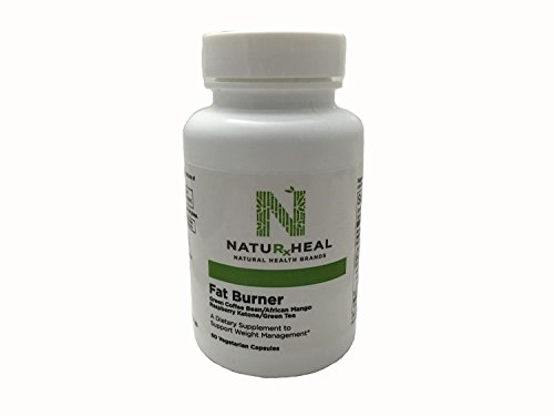 Fat Burner - Green Coffee Bean - African Mango - Raspberry Ketone - Green Tea 60 Vegetarian Capsules by natuRxheal