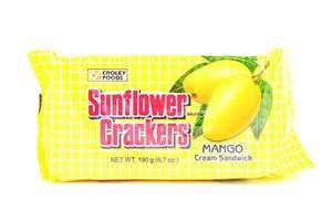 7 Packs Sunflower Crackers (Mango Cream) 190g Ea