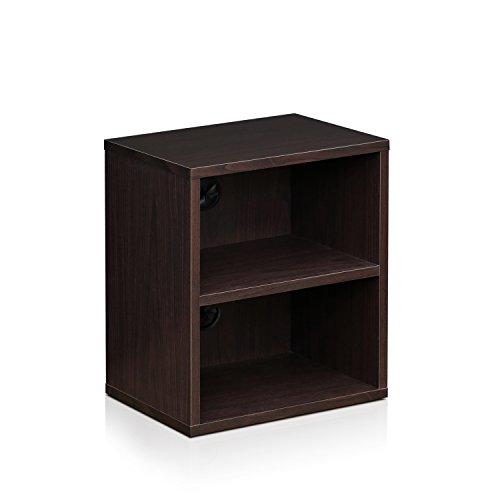 3 Shelf Component - Furinno Indo FLS-4030EX 3-Tier Petite Audio Video Display Shelf, Espresso