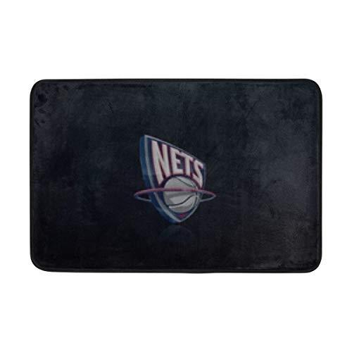 ANT88 New Jersey Nets NBA Basketball Logo Doormat Indoor Outdoor Entrance Floor Mat Bathroom 23.6 X 15.7 Inch ()