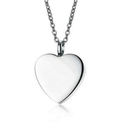 LiFashion LF Stainless Steel Personalized Cremation Jewelry for Mom Dad,Cremation Necklace Locket Memorial Urn Keepsake for Ashes Sentiment Motivational RIP Engraved Heart Pendant,Free Engraving (Ashes To Ashes Dust To Dust Scripture)