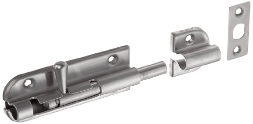 Sugatsune Barrel Bolt - Stainless Steel 304 Spring Loaded Barrel Bolt, Satin Finish, Non Locking, 3-35/64
