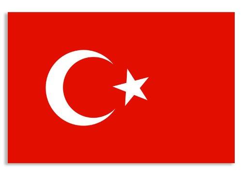 (Turkey Flag Sticker (turkish car decal))