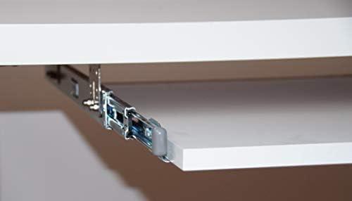 FIX/&EASY Tastaturauszug mit Tastaurablage 600X300mm Buche massiv echtholz natur Auszugschienen schwarz 300mm Set Ablage mit Auszug f/ür Tastatur Maus Keyboard Laptop