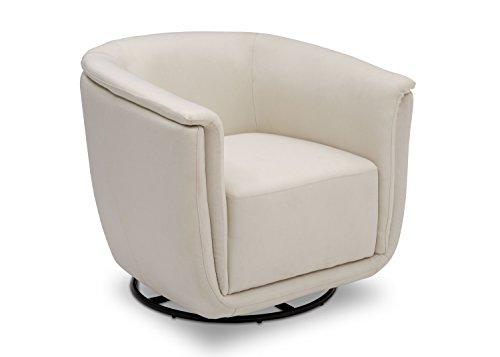 Delta Children Skylar Nursery Glider Swivel Rocker Tub Chair, Cream (Tub Cream Chairs)