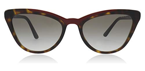 Prada PR01VS 3200A7 Havana/Red PR01VS Cats Eyes Sunglasses Lens Category 2 ()